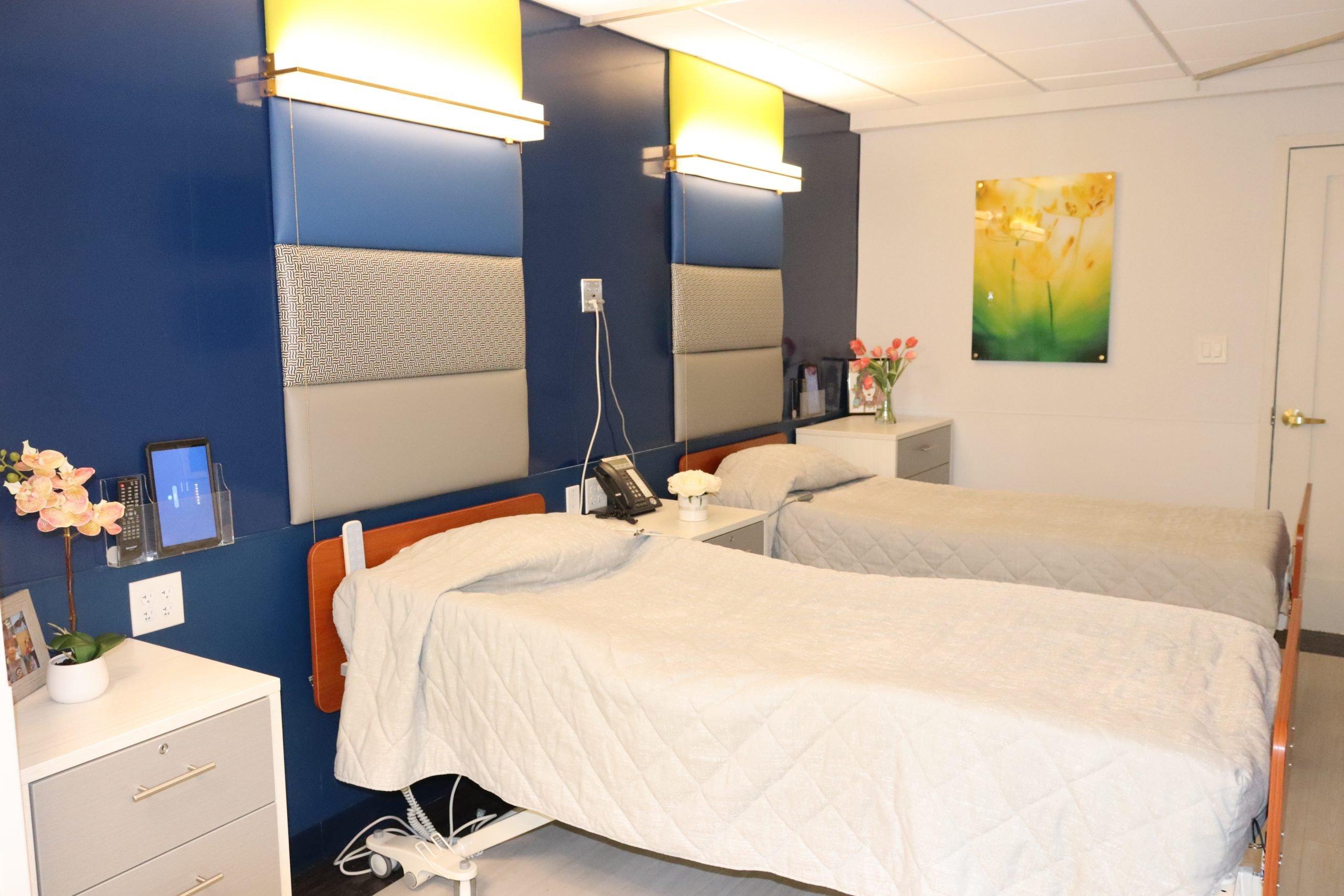 Beds in patient room